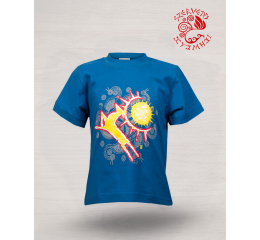 Wonder stag painted T-shirt - blue