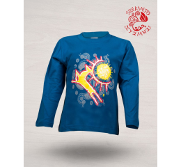 Wonder stag painted long sleeve shirt - blue