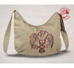 Turul bird of Rakamaz half moon bag - beige