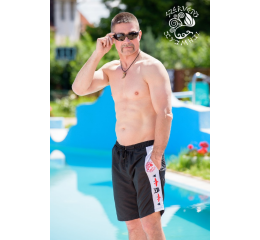 Turul swimming trunks / shorts - black & white