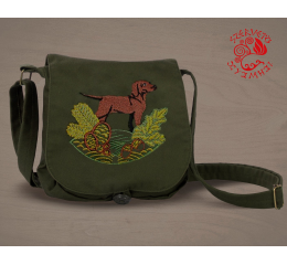 Hungarian pointer (standing) small bag - green