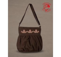 Lifetree-palmette baggy bag - brown