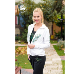 Szervető-jazygia sweater - white & green