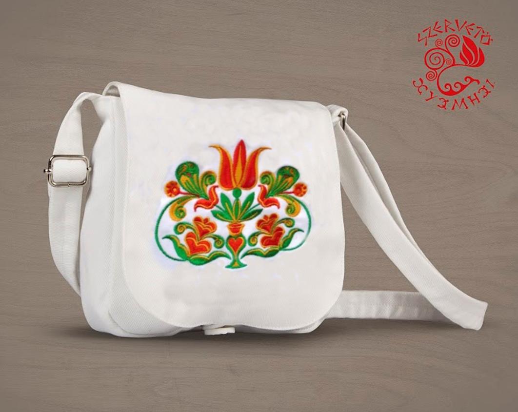 adfef1cf78 Transylvanian tulip small bag - white   Bags   Szervető webshop