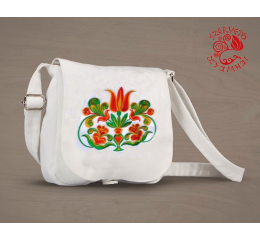 Transylvanian tulip small bag - white