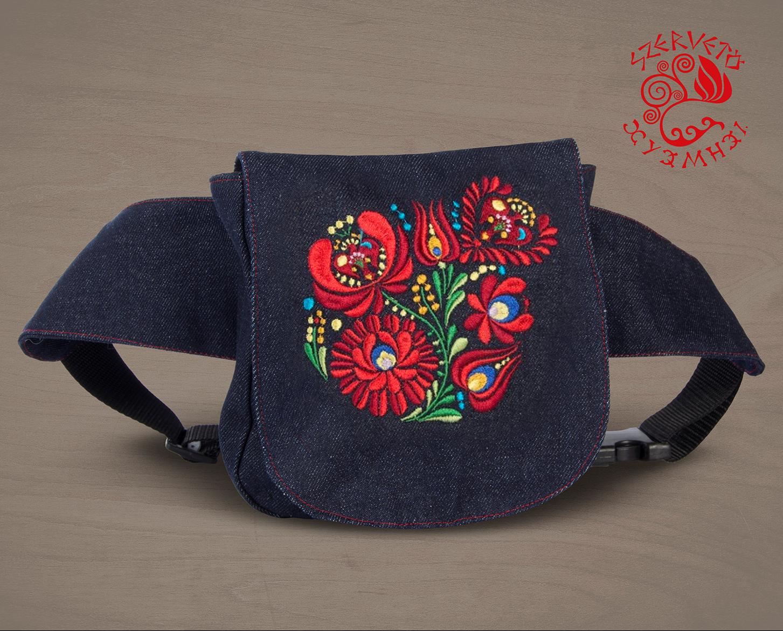 b415cb5355 Szervető-matyó waist bag - denim   Bags   Szervető webshop