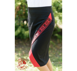 Szervető-torockói flat skirt - red & black