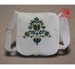 Szervető-jazygia small bag - green & white