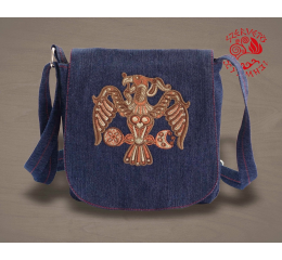 Turul bird of Rakamaz small bag - denim