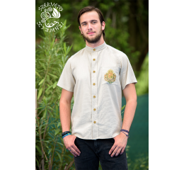 Coat of arms of Hungary shirt - beige-gold