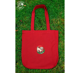 Szervető-kuvasz shopping bag - red