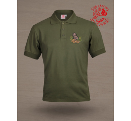 Hungarian pointer (vizsla) polo shirt - green