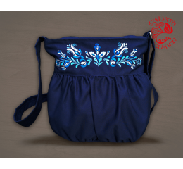 Szervető-jazygia leafs & tendrils baggy bag - blue