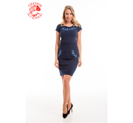 Szervető-jazygia tulip pencil skirt - blue