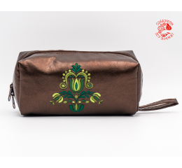Szervető-jazygia beauty case - nacreous brown & green
