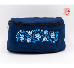 Szervető-tulip embroidery waist bag - blue