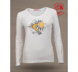 Wonder stag O-neck long sleeve T-shirt - white
