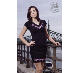 Lifetree-palmette miniskirt - black & purple